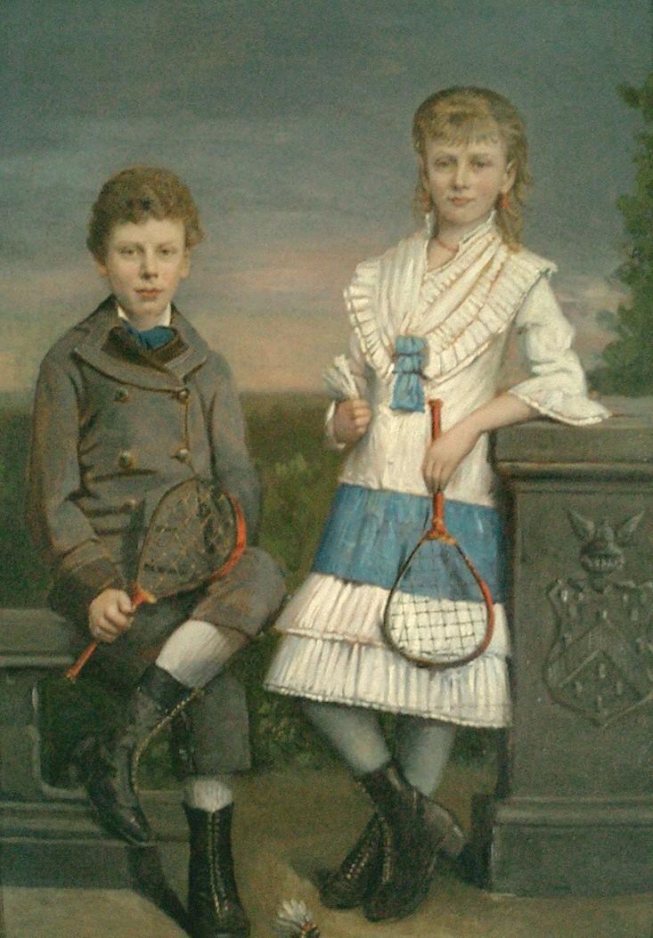 Lucie en haar broer Willem Edmond (1881)