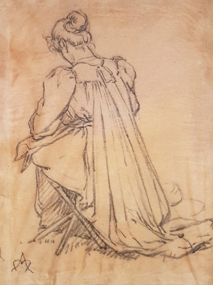 Lucie getekend door Auguste Morisot (1899)