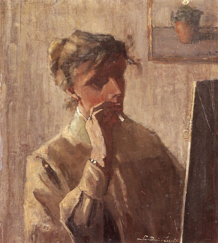 Zelfportret Lucie ca. 38 jaar (ca. 1909)