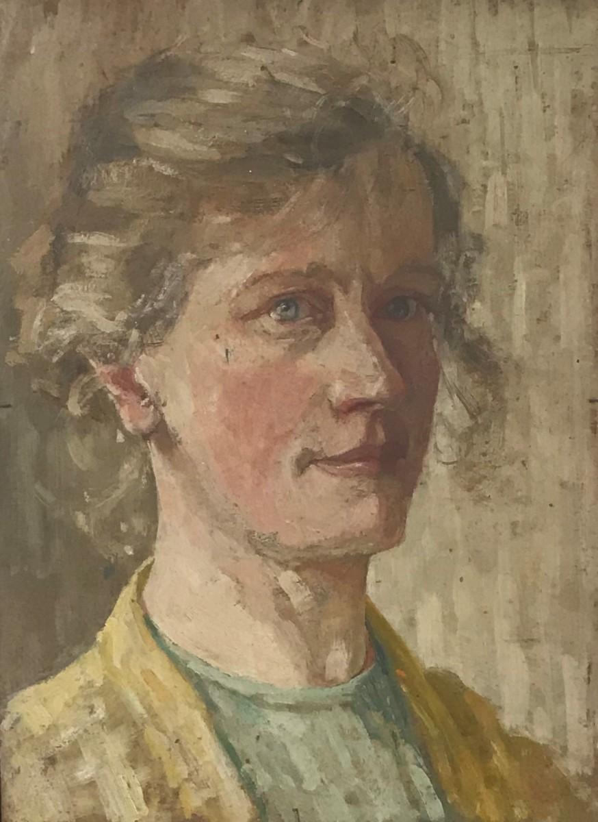 Zelfportret (ca. 1907) door Lucie van Dam van Isselt