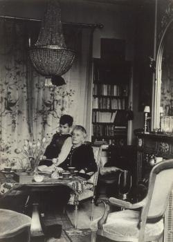 Lucie met haar jonste kleinzoon (ca. 1940)