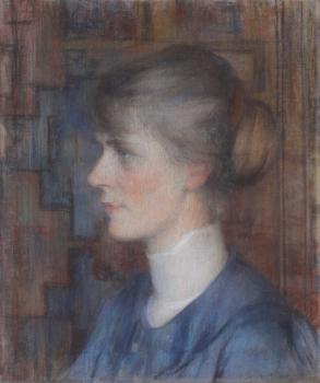 Portret Lucie door Walter Vaes (ca. 1905)