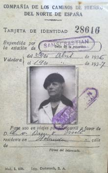 ID-kaart Noord-Spaanse Spoorwegen (1936)