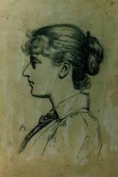Portret van Lucie door Auguste Morisot (ca. 1895)