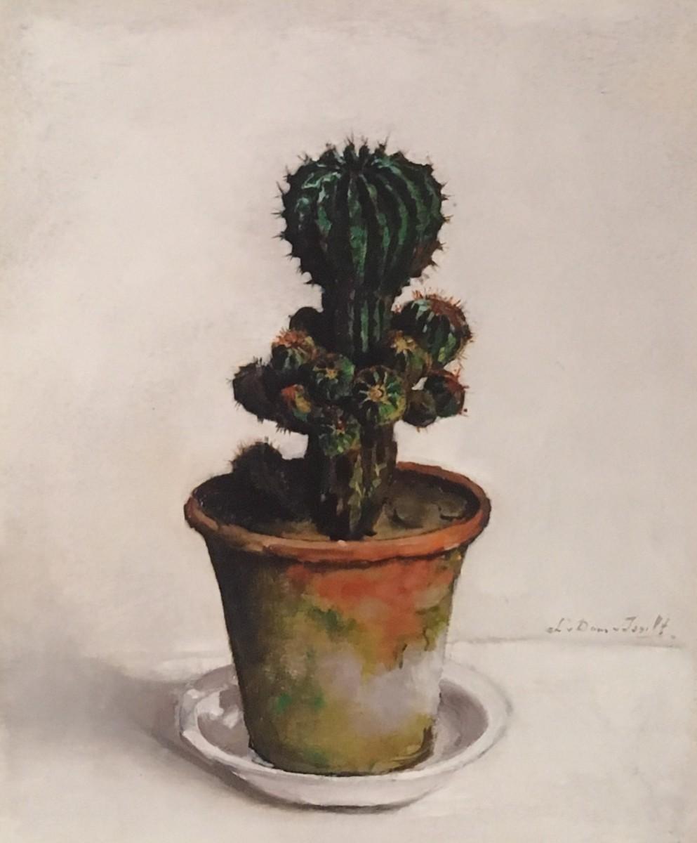 Cactus (ca. 1920) door Lucie van Dam van Isselt