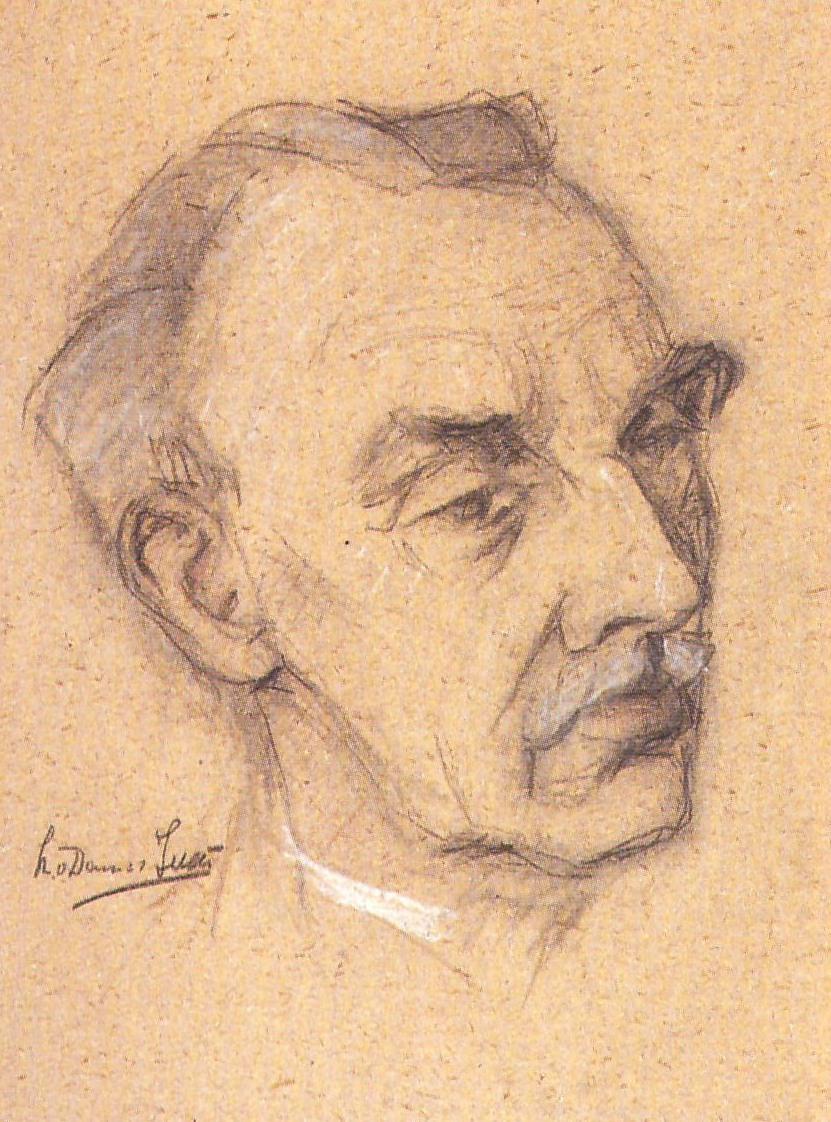 Portret Willem Plasschaert (1942) door Lucie van Dam van Isselt