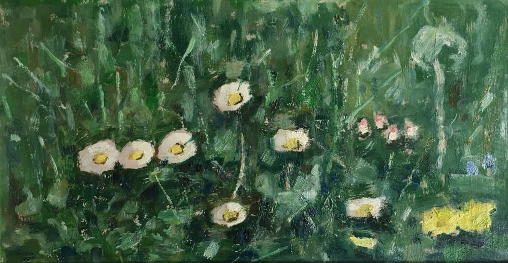 Weidebloemen (ca. 1918) door Lucie van Dam van Isselt