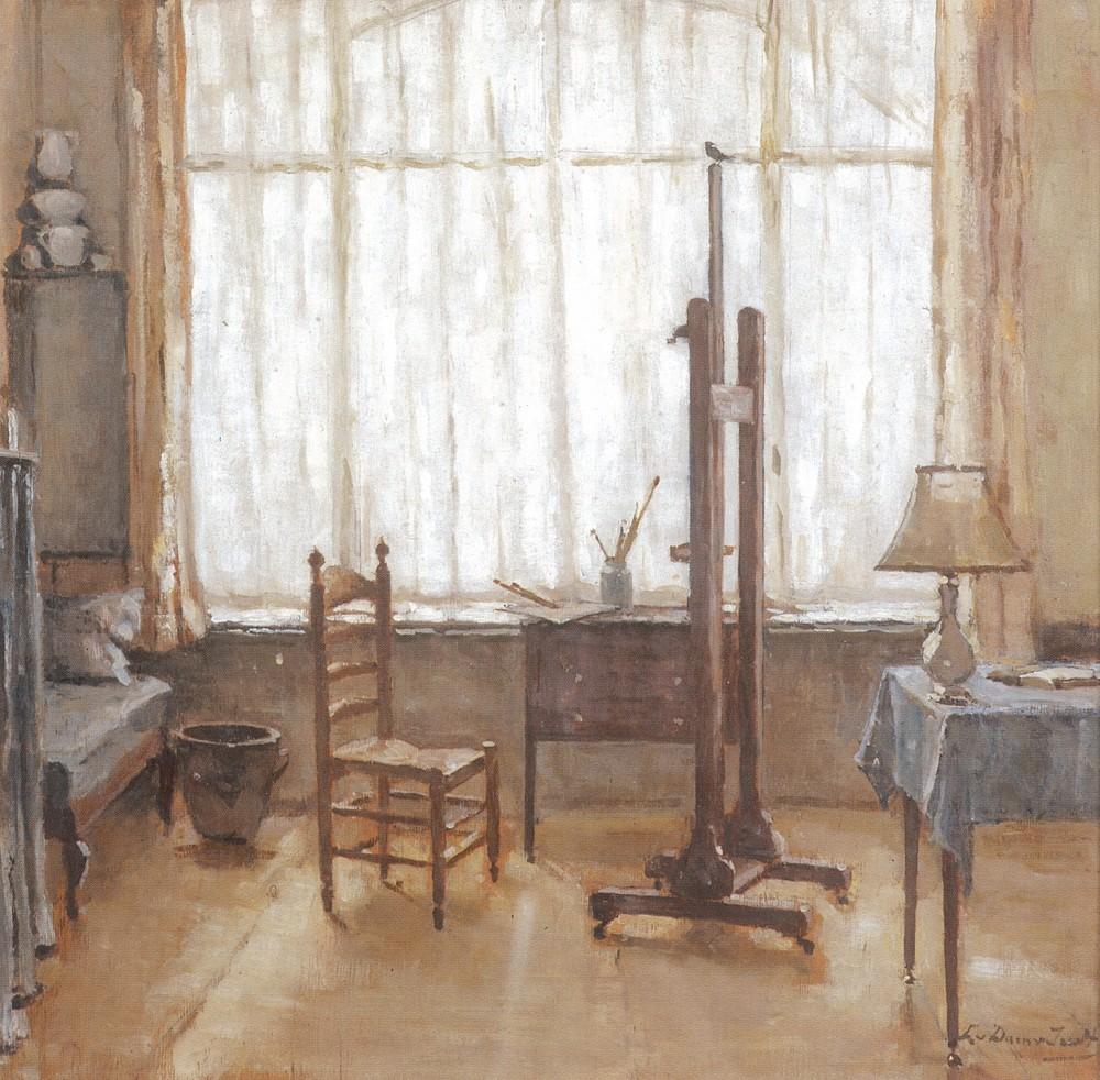 Interieur atelier (1929-1930) door Lucie van Dam van Isselt