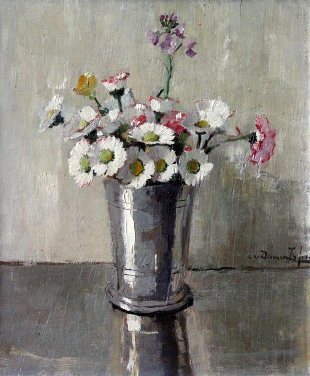 Meizoentjes in een zilveren vaasje (1918) door Lucie van Dam van Isselt