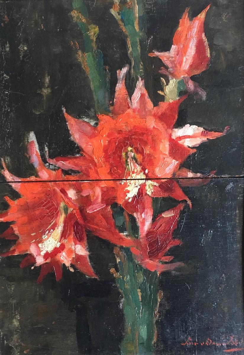 Bloeiende cactus door Lucie van Dam van Isselt