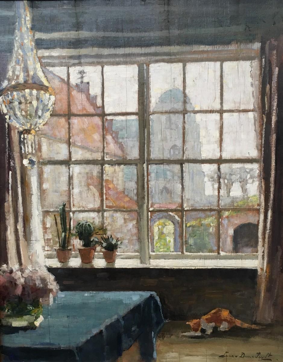 Uit mijn venster (ca. 1912-1913) door Lucie van Dam van Isselt