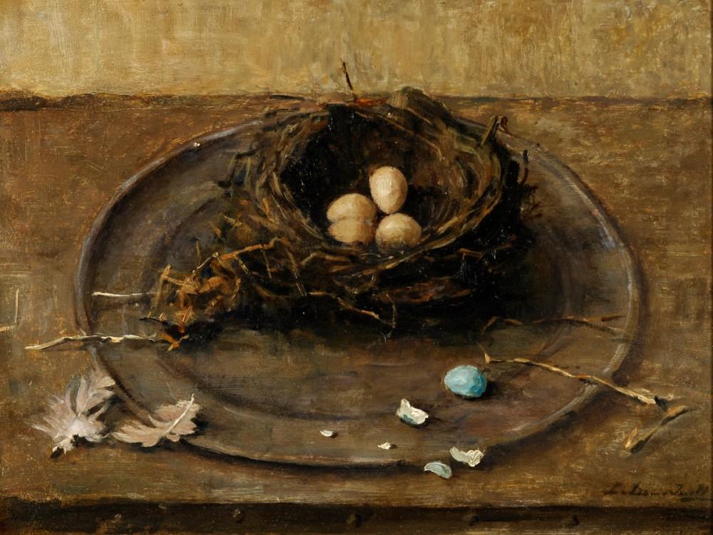 Vogelnest door Lucie van Dam van Isselt