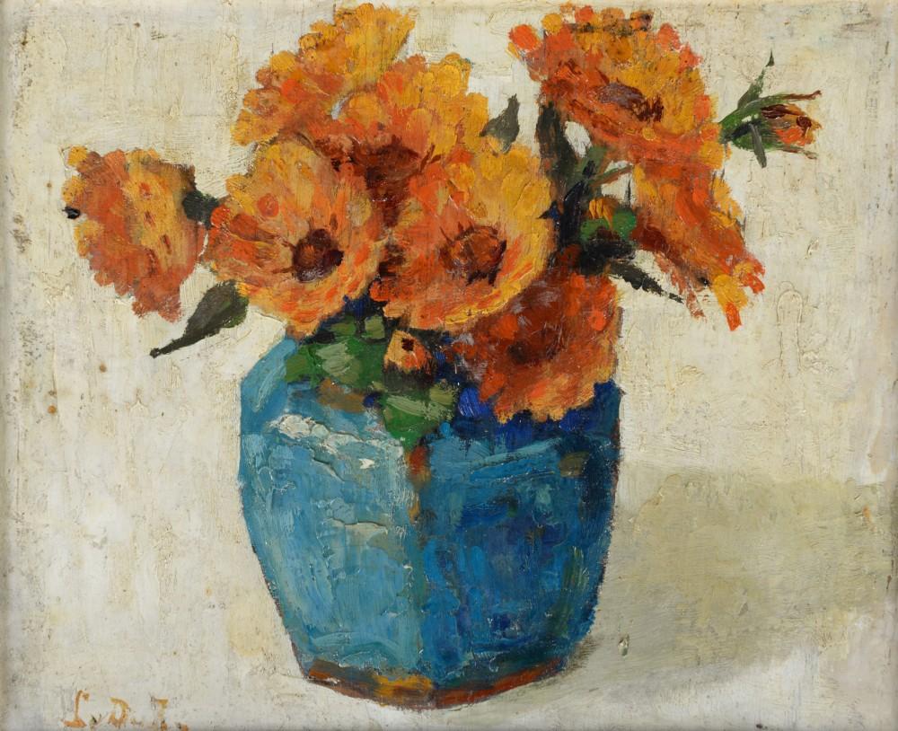 Goudsbloemen door Lucie van Dam van Isselt