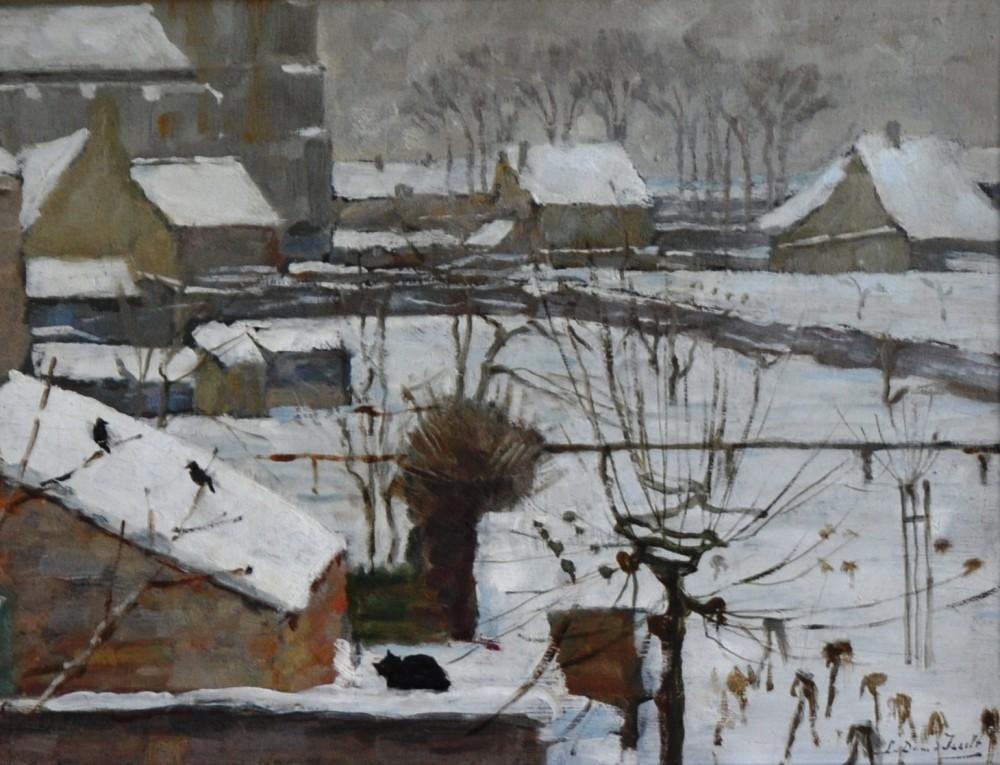 Wintergezicht op Veere door Lucie van Dam van Isselt
