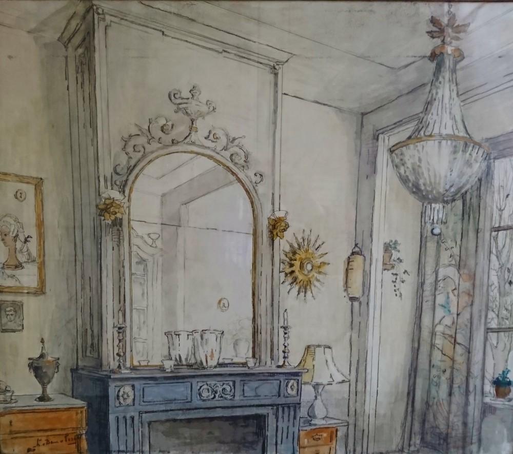Interieur door Lucie van Dam van Isselt