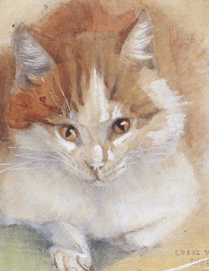 Poes (ca. 1907-1910) door Lucie van Dam van Isselt