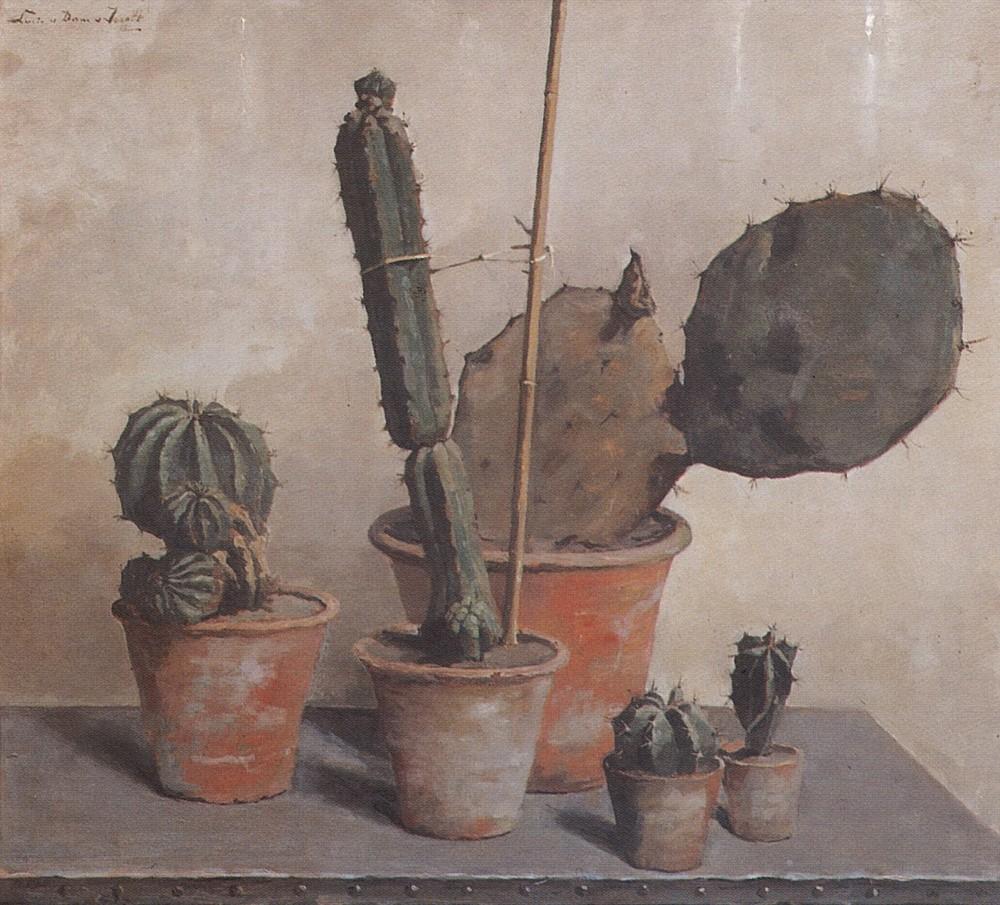 Vijf cactussen (1923-1924) door Lucie van Dam van Isselt