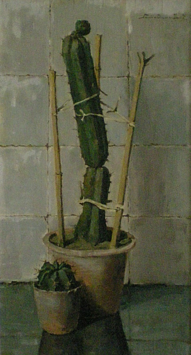 Twee cactussen (1934-1924) door Lucie van Dam van Isselt