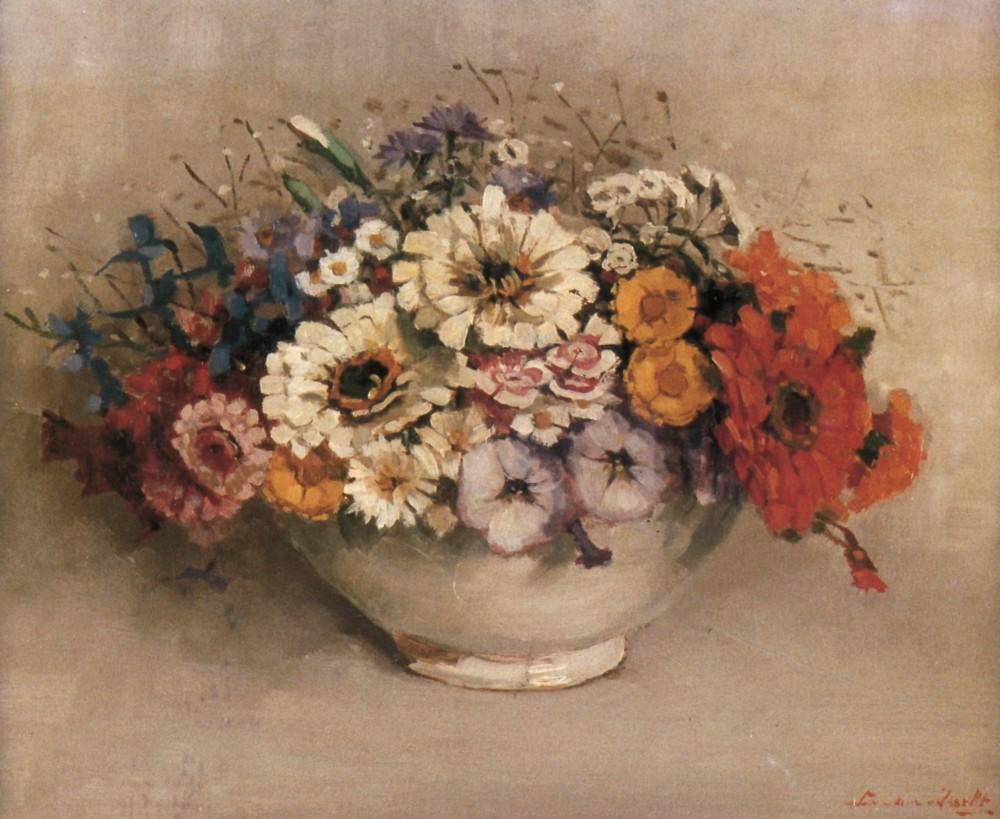 Pronkbouquet (1925-1926) door Lucie van Dam van Isselt