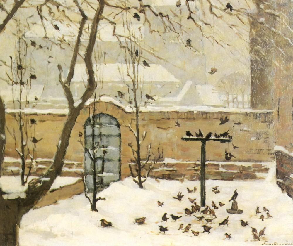 Tuin in Veere (ca. 1920-1925) door Lucie van Dam van Isselt
