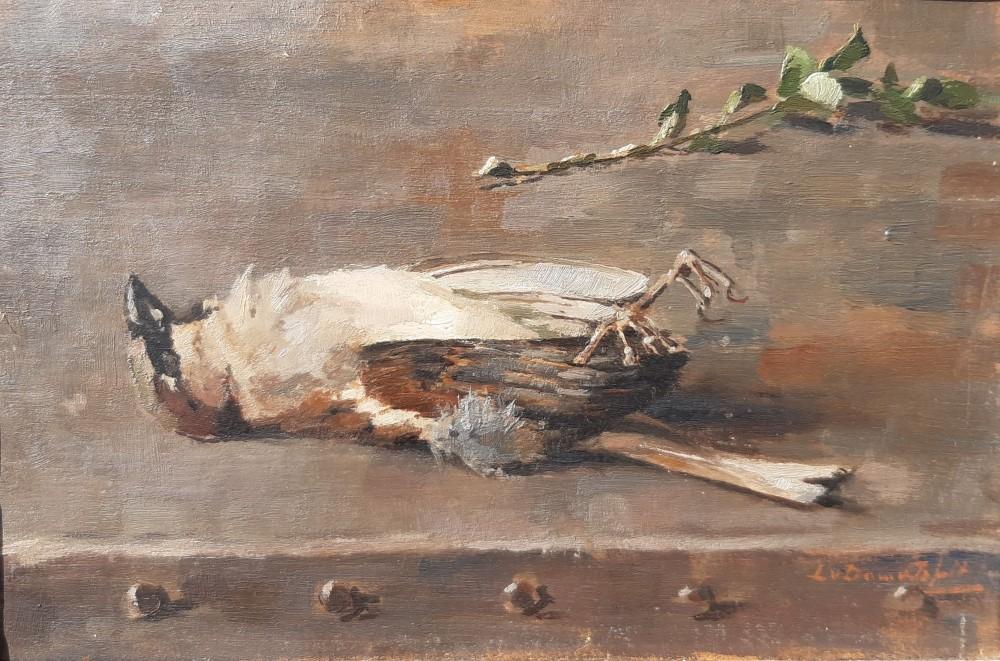 Dood vogeltje (ca. 1916) door Lucie van Dam van Isselt