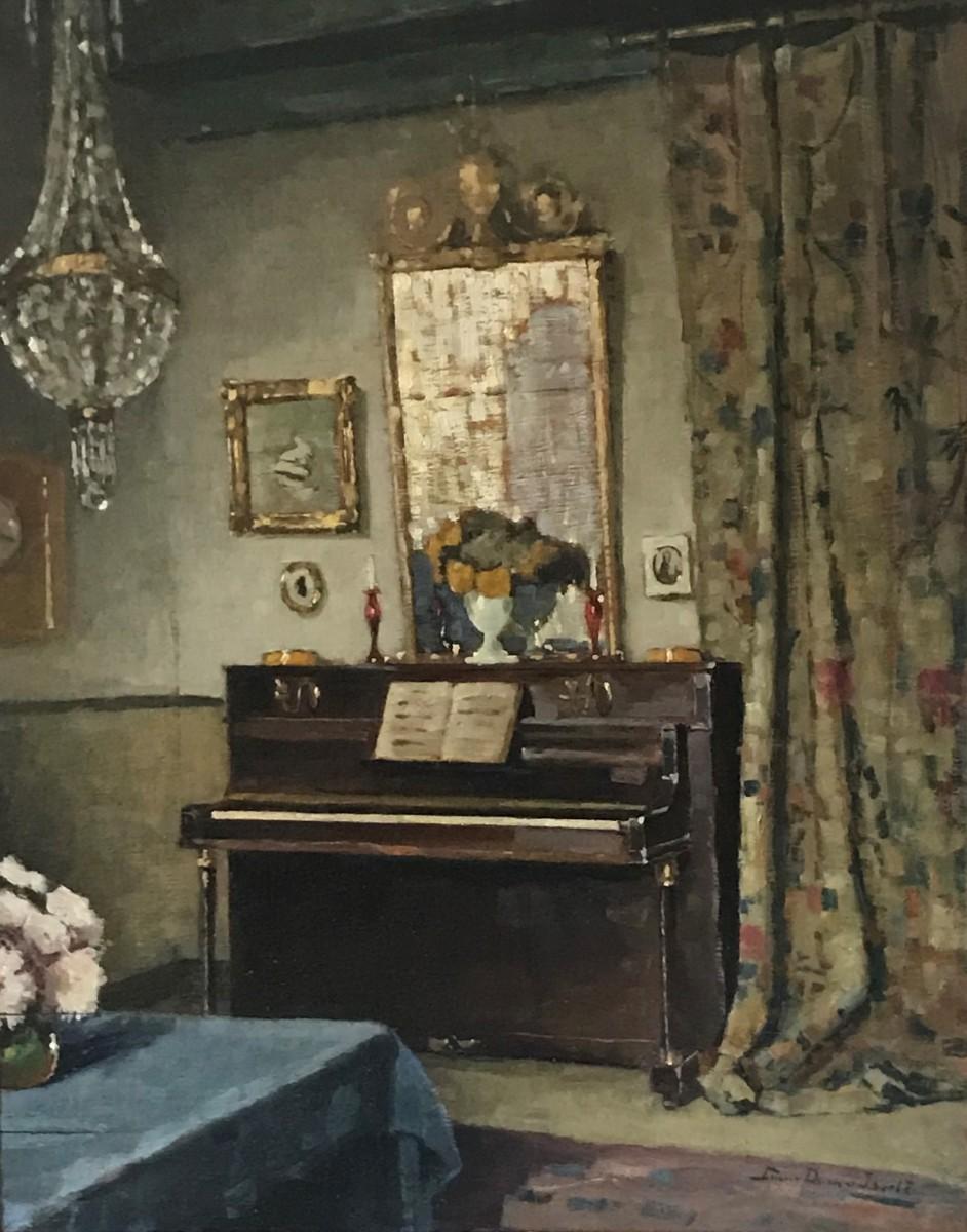 Interieur atelier (1917-1918) door Lucie van Dam van Isselt