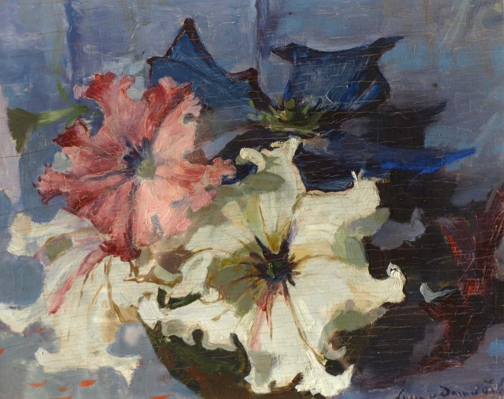 Petunias (ca. 1918) door Lucie van Dam van Isselt