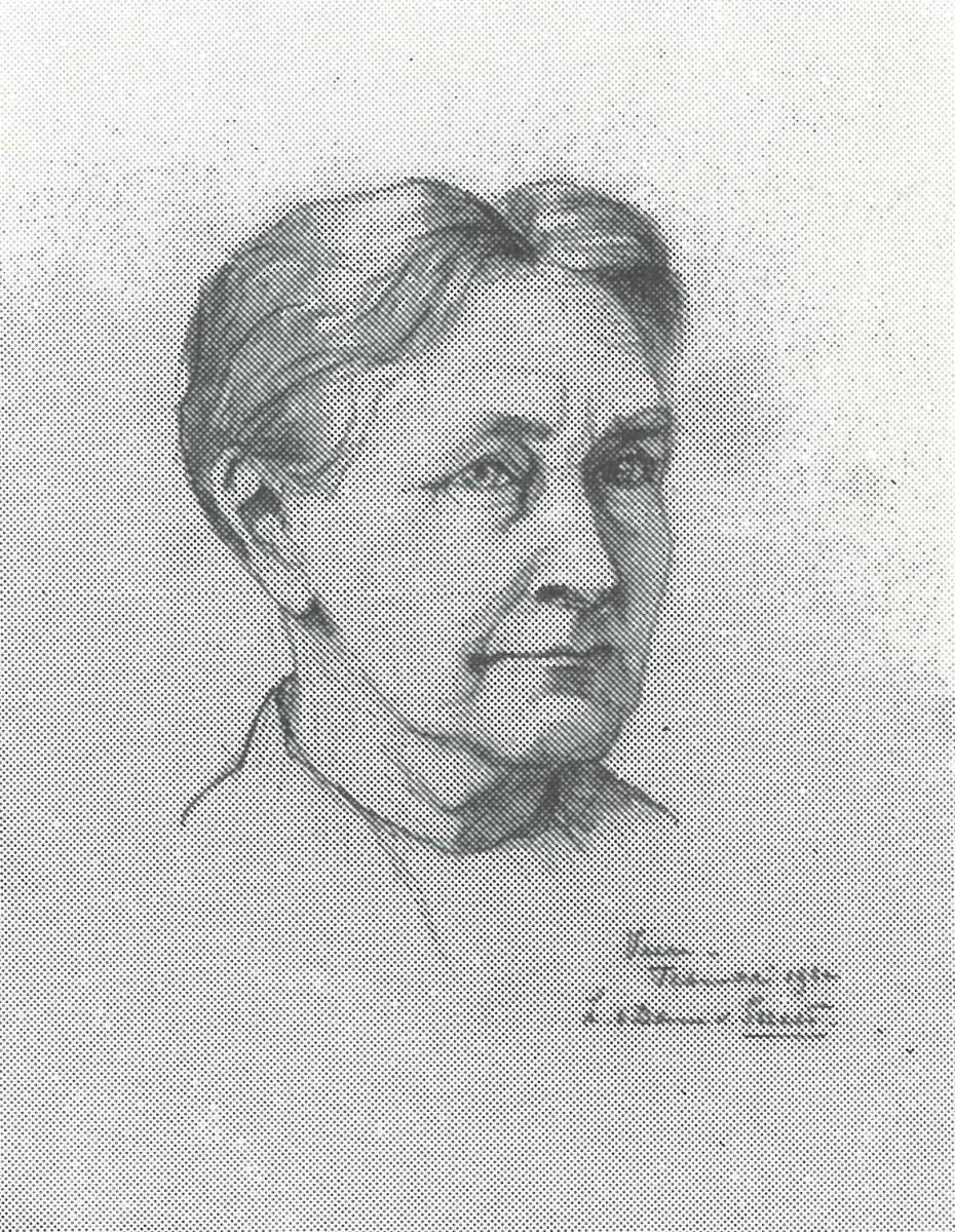 Portret Pietje Poppe (1932) door Lucie van Dam van Isselt
