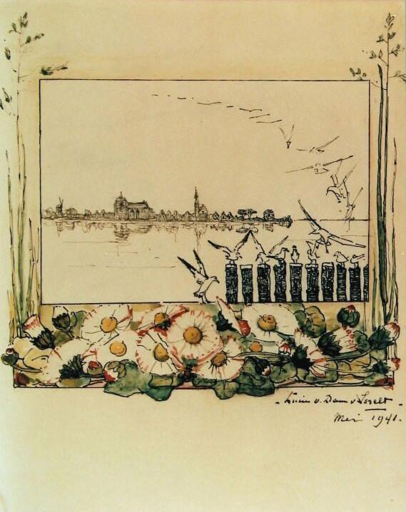 Veere (1941) door Lucie van Dam van Isselt