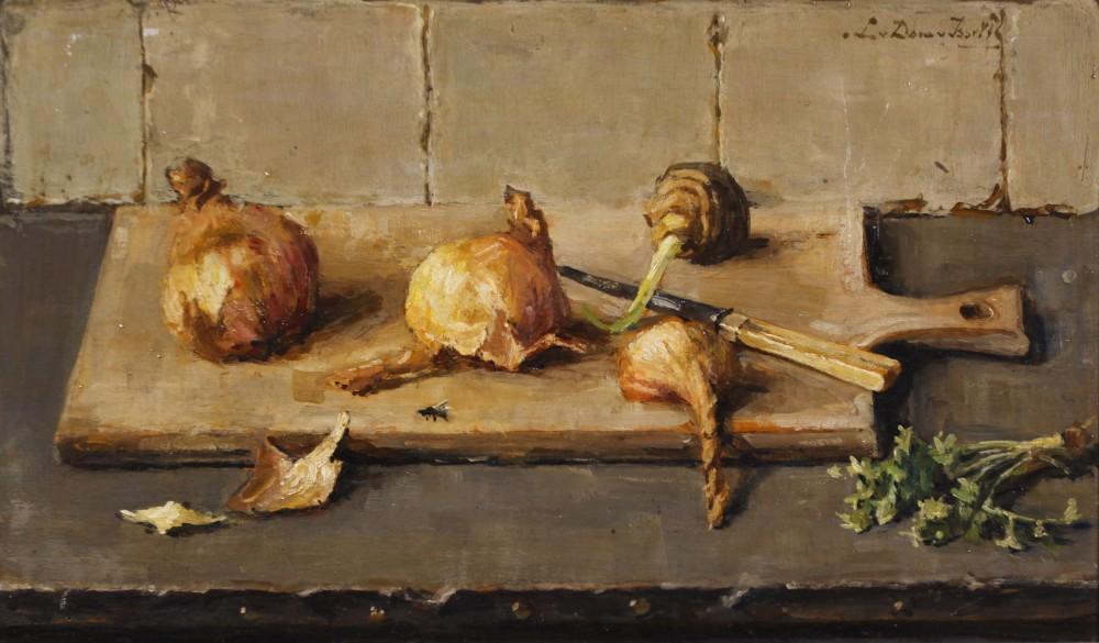 Stilleven met uien door Lucie van Dam van Isselt