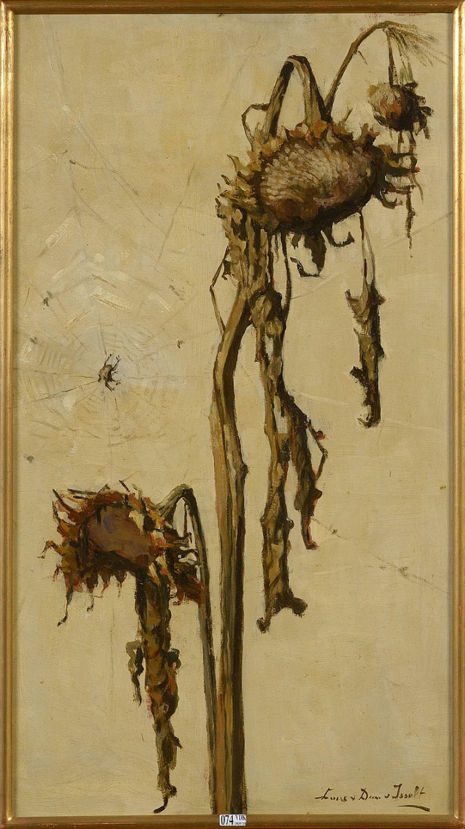 Vergane zonnebloemen door Lucie van Dam van Isselt