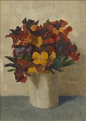 Le bouquet de fleurs door Lucie van Dam van Isselt
