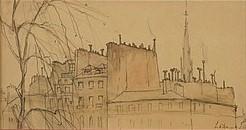 De daken van Parijs door Lucie van Dam van Isselt
