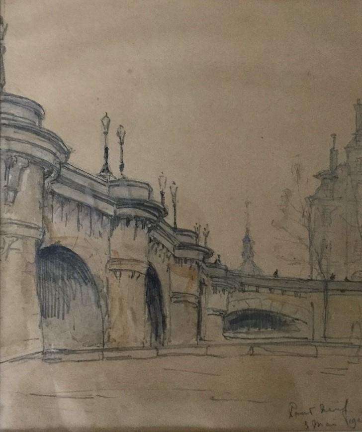 Pont Neuf, Paris (1925) door Lucie van Dam van Isselt