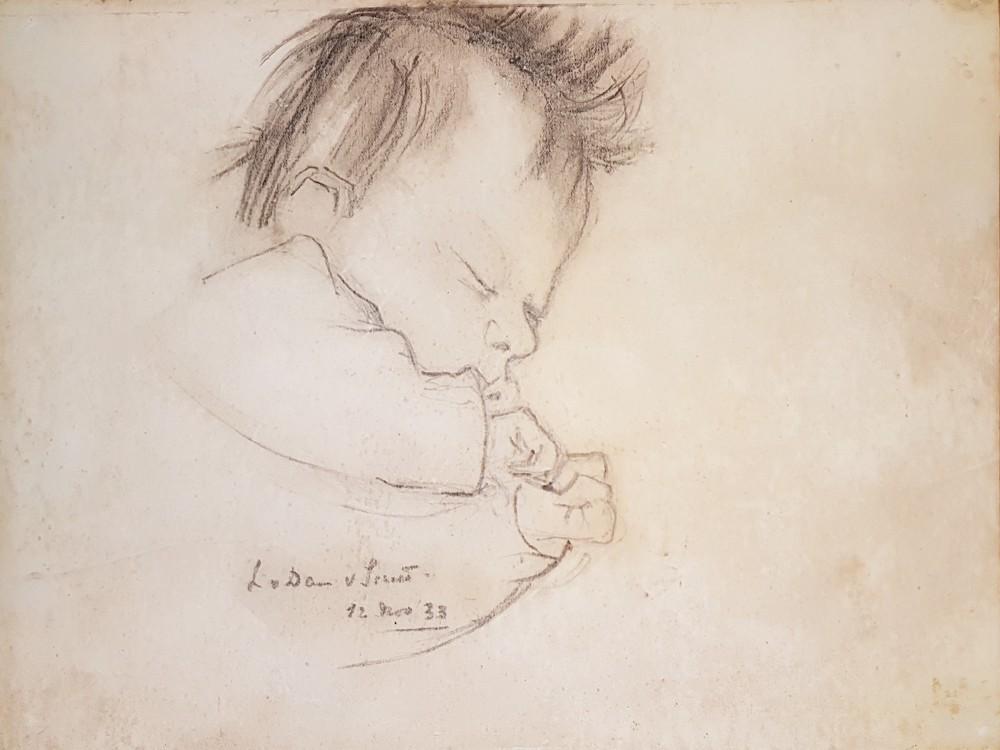 Portret Elisabeth (1933) door Lucie van Dam van Isselt
