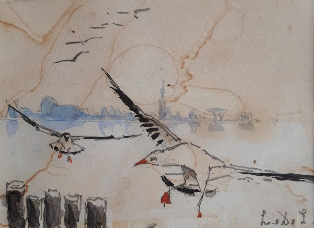 Zeemeeuwen door Lucie van Dam van Isselt