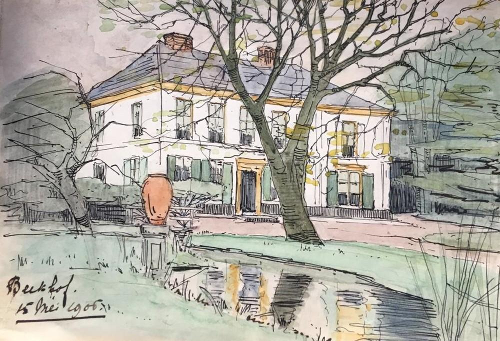 Beekhof (1905) door Lucie van Dam van Isselt