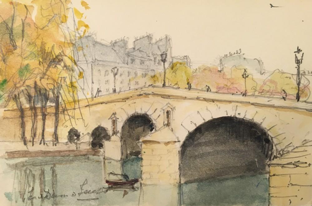 Le Pont Marie, Paris (1948) door Lucie van Dam van Isselt