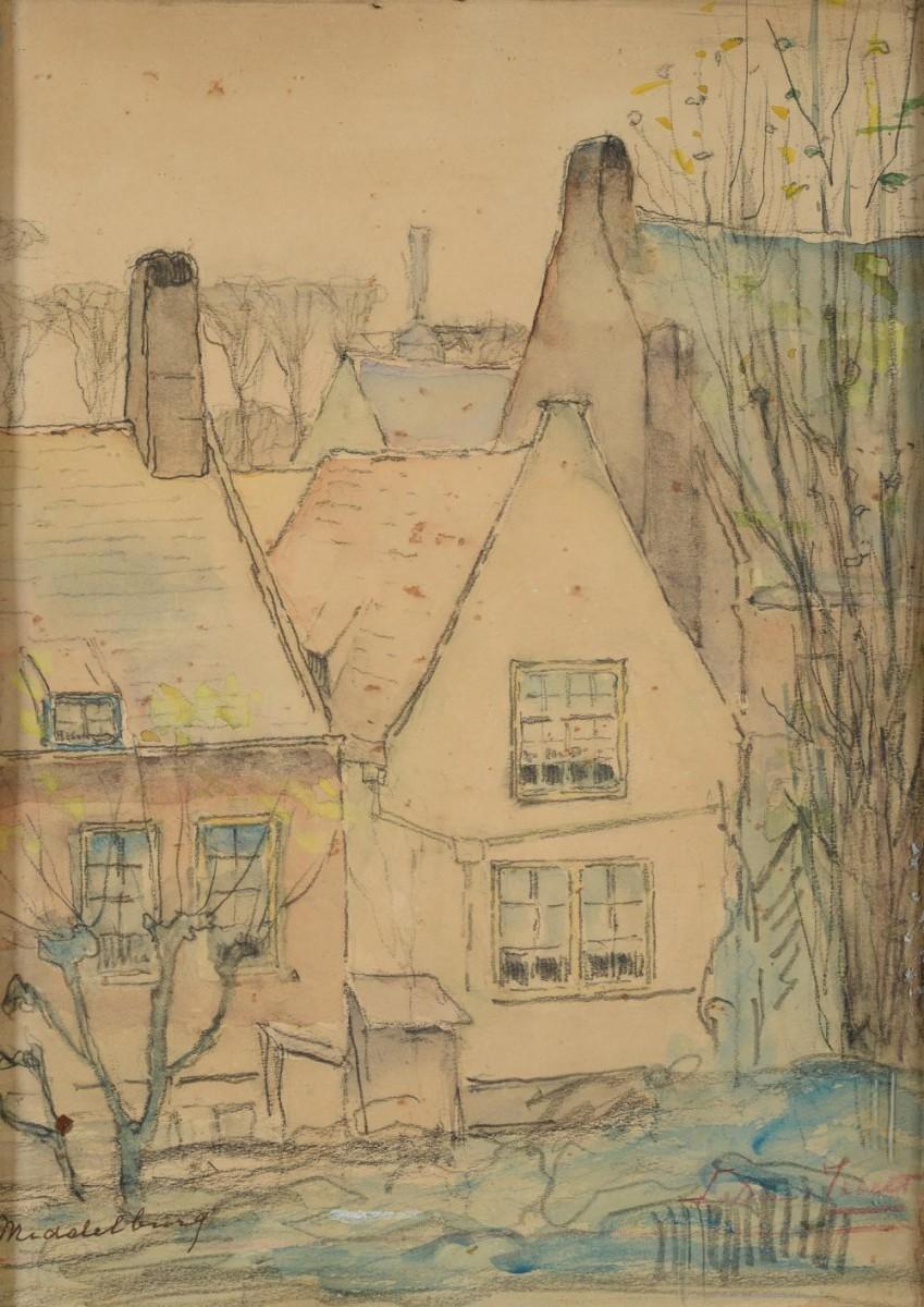Huis De Schaere te Middelburg door Lucie van Dam van Isselt