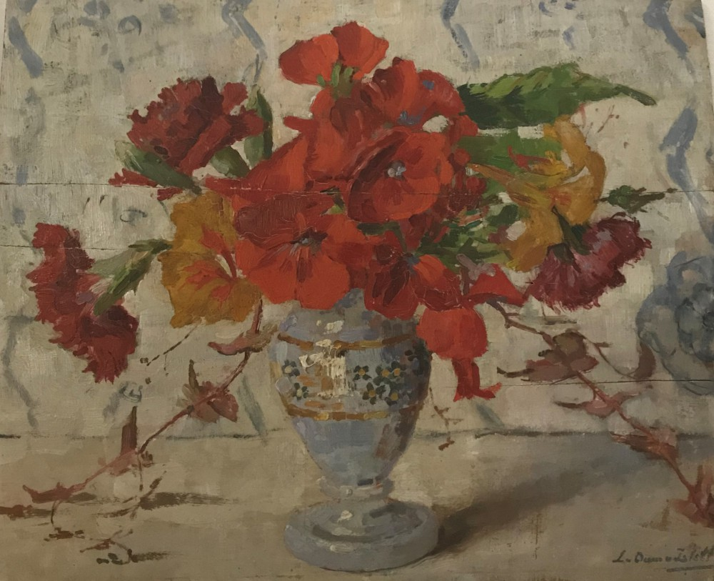 Zomerbloemen (1912) door Lucie van Dam van Isselt