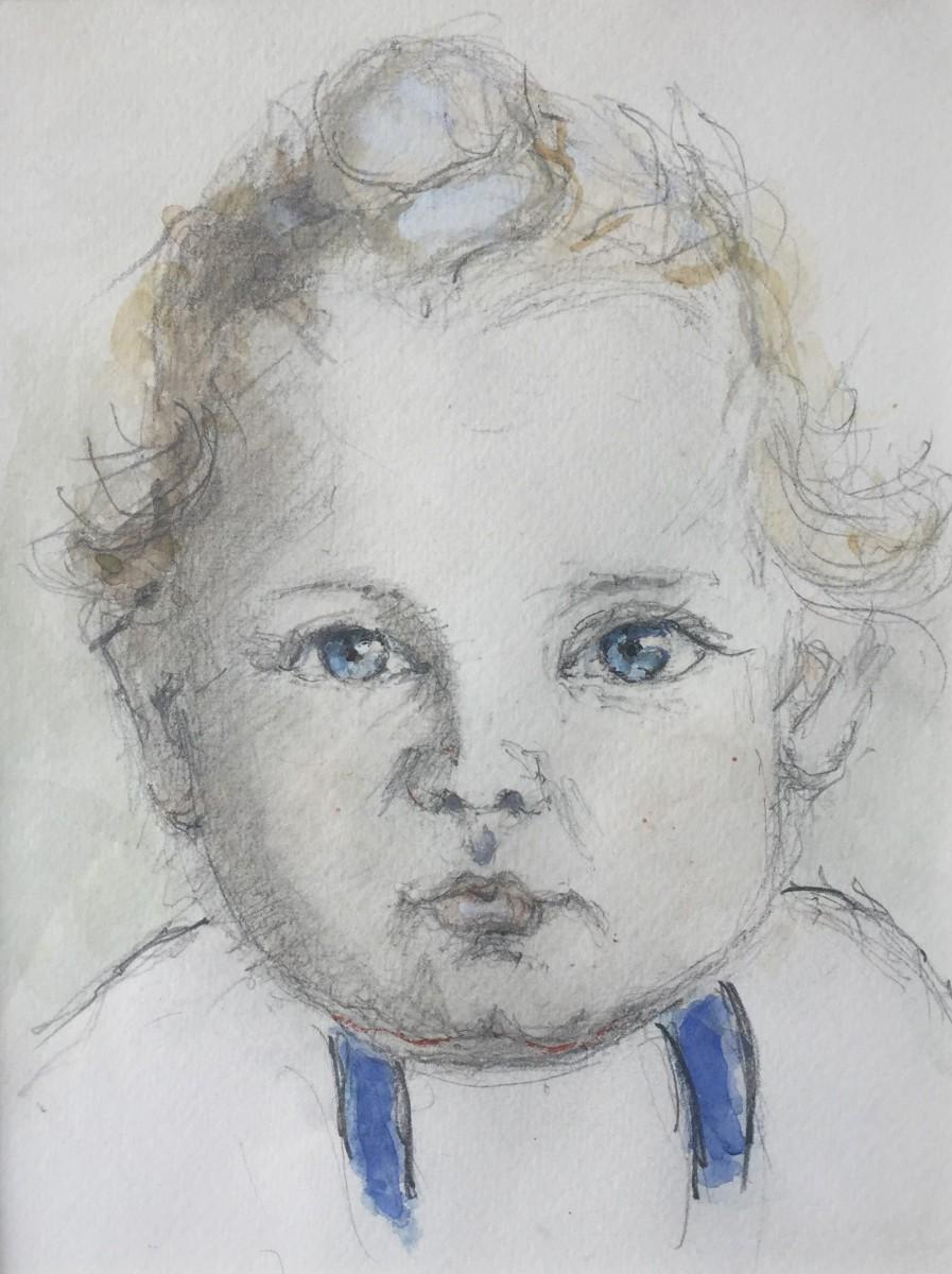 Portret Franca Geerts (1947) door Lucie van Dam van Isselt