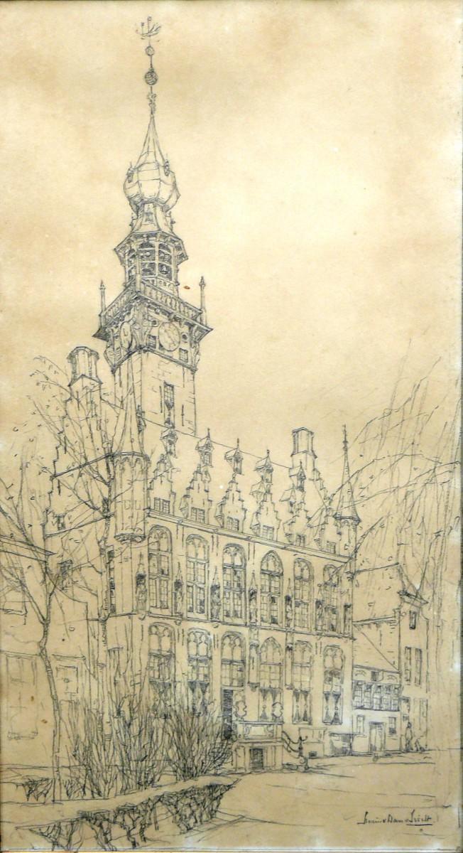 Stadhuis van Veere door Lucie van Dam van Isselt