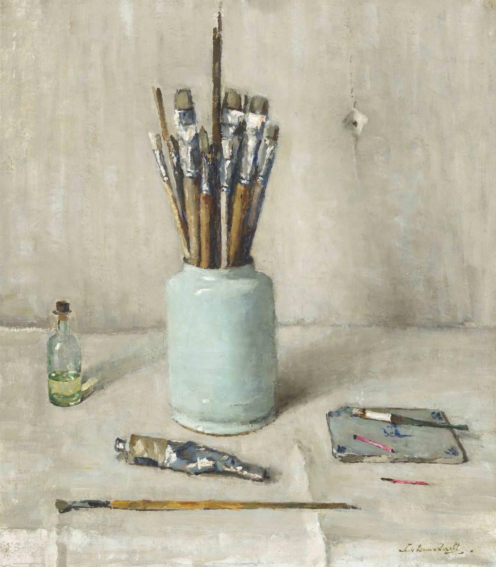 Pot met kwasten (1946) door Lucie van Dam van Isselt