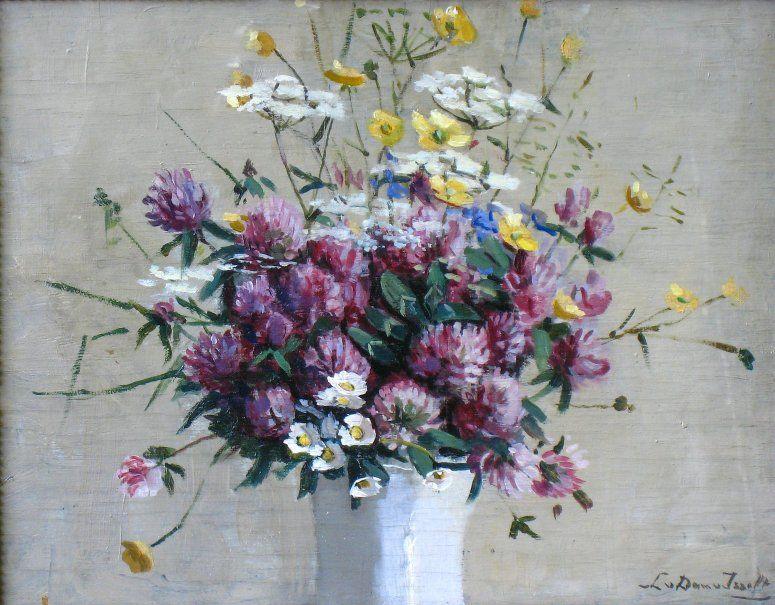 Weidebloemen in vaas door Lucie van Dam van Isselt