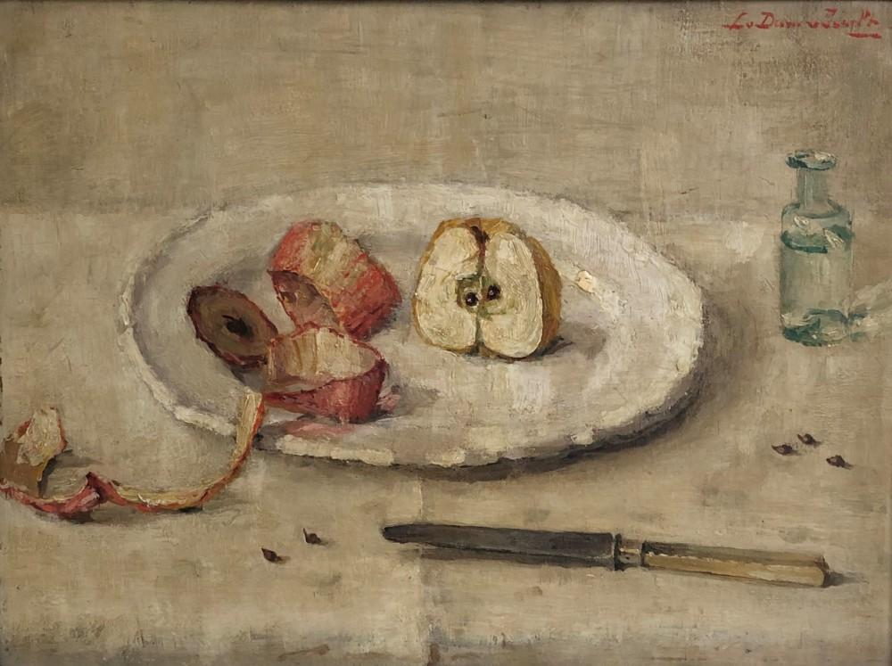 Geschilde appel (ca. 1920-1925) door Lucie van Dam van Isselt