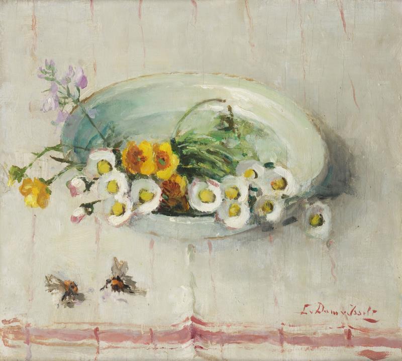 Veldbloemetjes (ca. 1920) door Lucie van Dam van Isselt