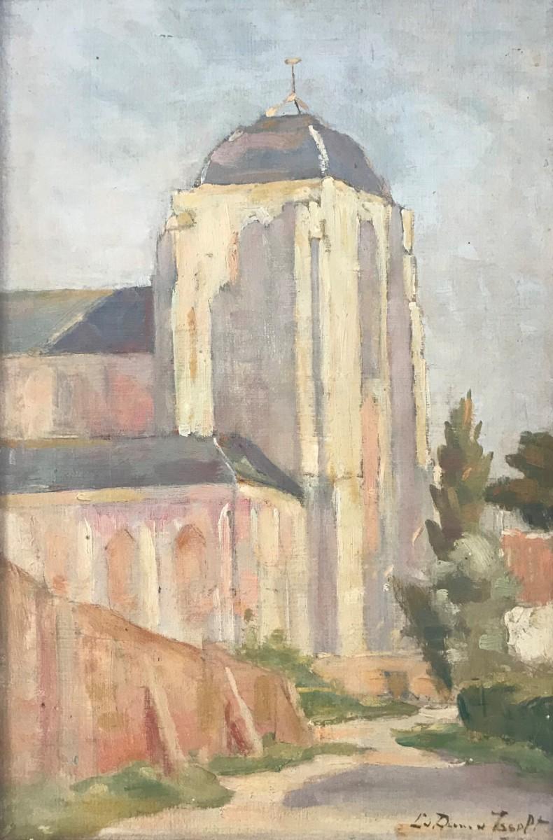 Grote Kerk Veere (ca. 1920-1925) door Lucie van Dam van Isselt