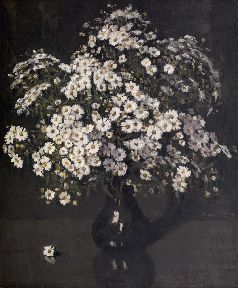 Herfstchrysanten (ca. 1930-1935) door Lucie van Dam van Isselt