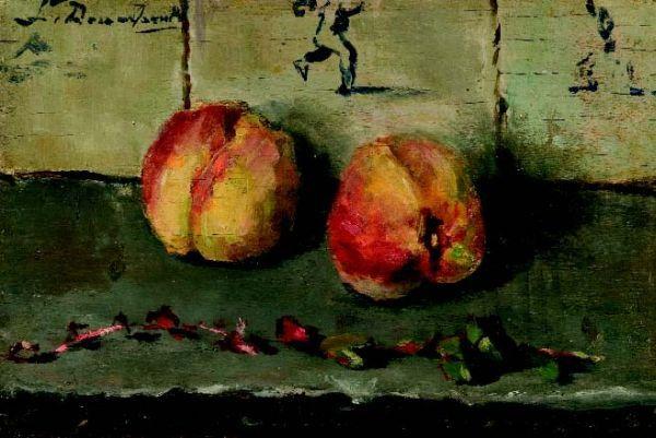 Stilleven met appels door Lucie van Dam van Isselt