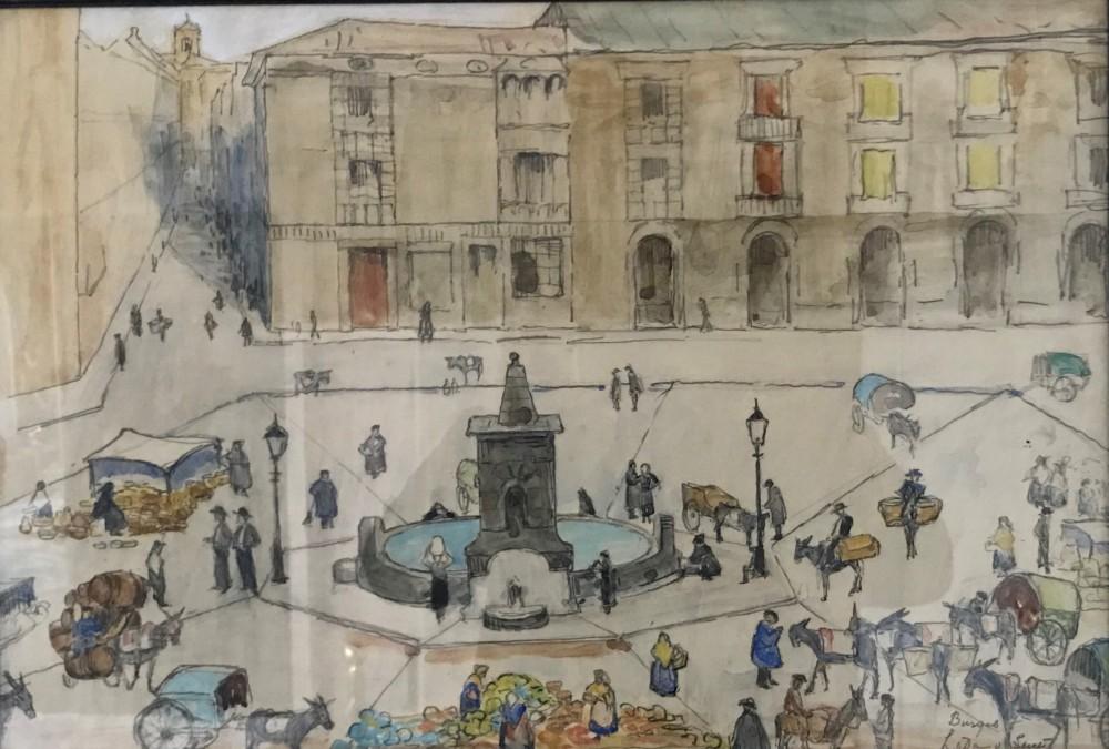 Burgos (ca. 1935) door Lucie van Dam van Isselt